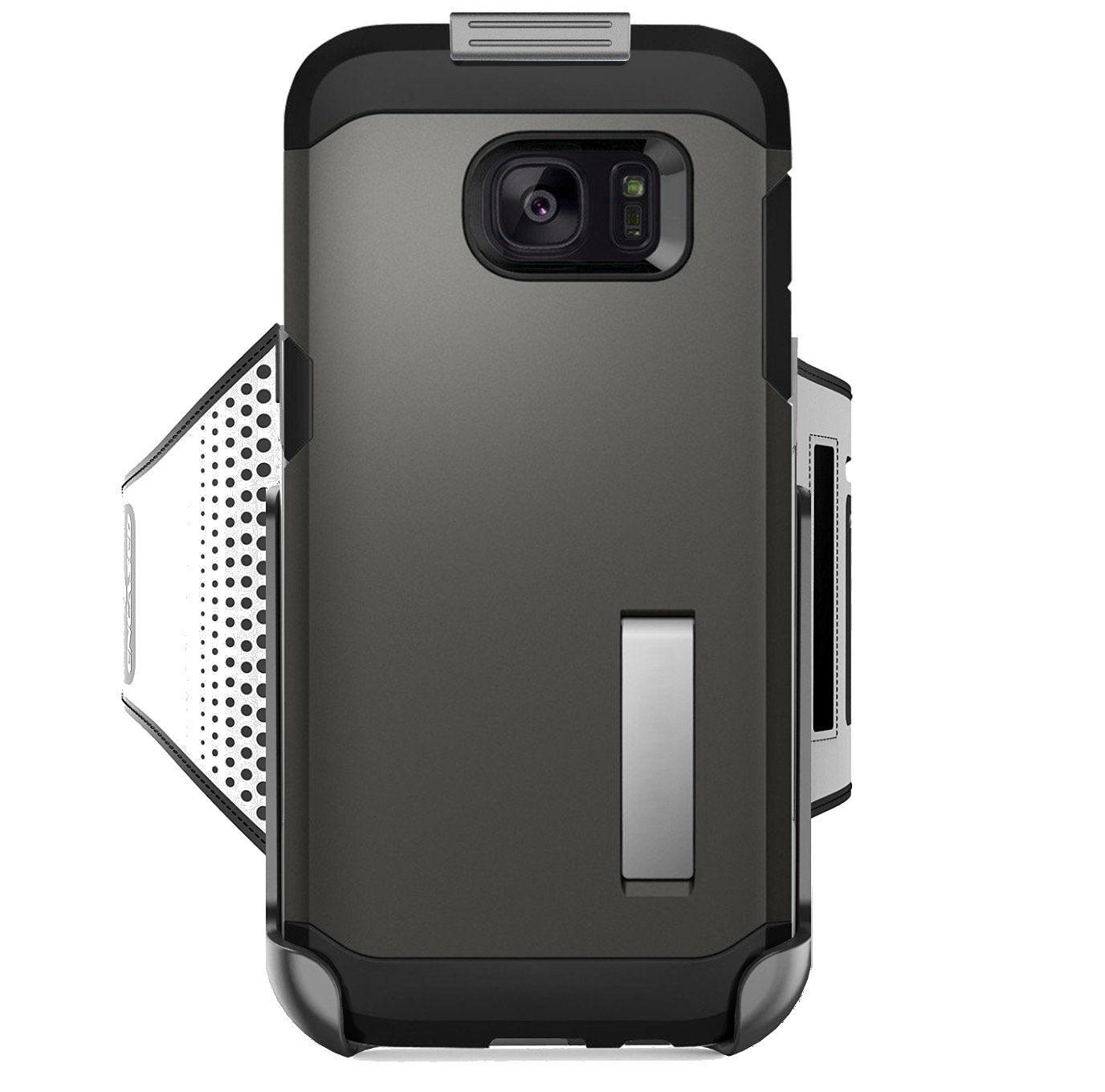 Workout Armband for Spigen Tough Armor Case - Samsung Galaxy S7 EDGE (Sweat-resistant band) Encased Products (case is not included)