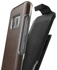 Galaxy S8 Plus Leather Belt Clip Case w/ Holster - Artura Collection by Encased (Samsung S8+
