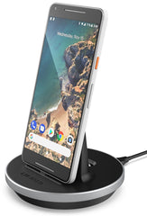 Google Pixel 2 Desktop Charging Dock by Encased - Type C Charger for Pixel (Case compatible) (Aluminum/Black)