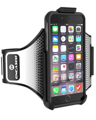 Armband for iPhone 6, 6s with Sure-fit Neoprene Strap, Workout Companion Set w/ Case Included (Universal Male / Female Compatible) (New Upgraded, S-TREK Version - 2016)