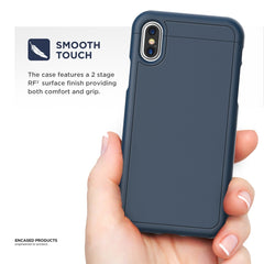 iPhone X Slim Case w/ Screen Protector, Encased [SlimShield Series] Protective Grip Case for Apple iPhoneX (2017 Release)