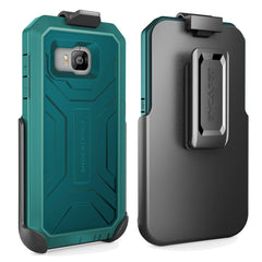 HTC ONE M9 Shockproof® Case & Belt Clip Holster with Built-in Screen Protector [Hero Series] (Encased® Lifetime Warranty) **New 2016 Release** (Turquoise )