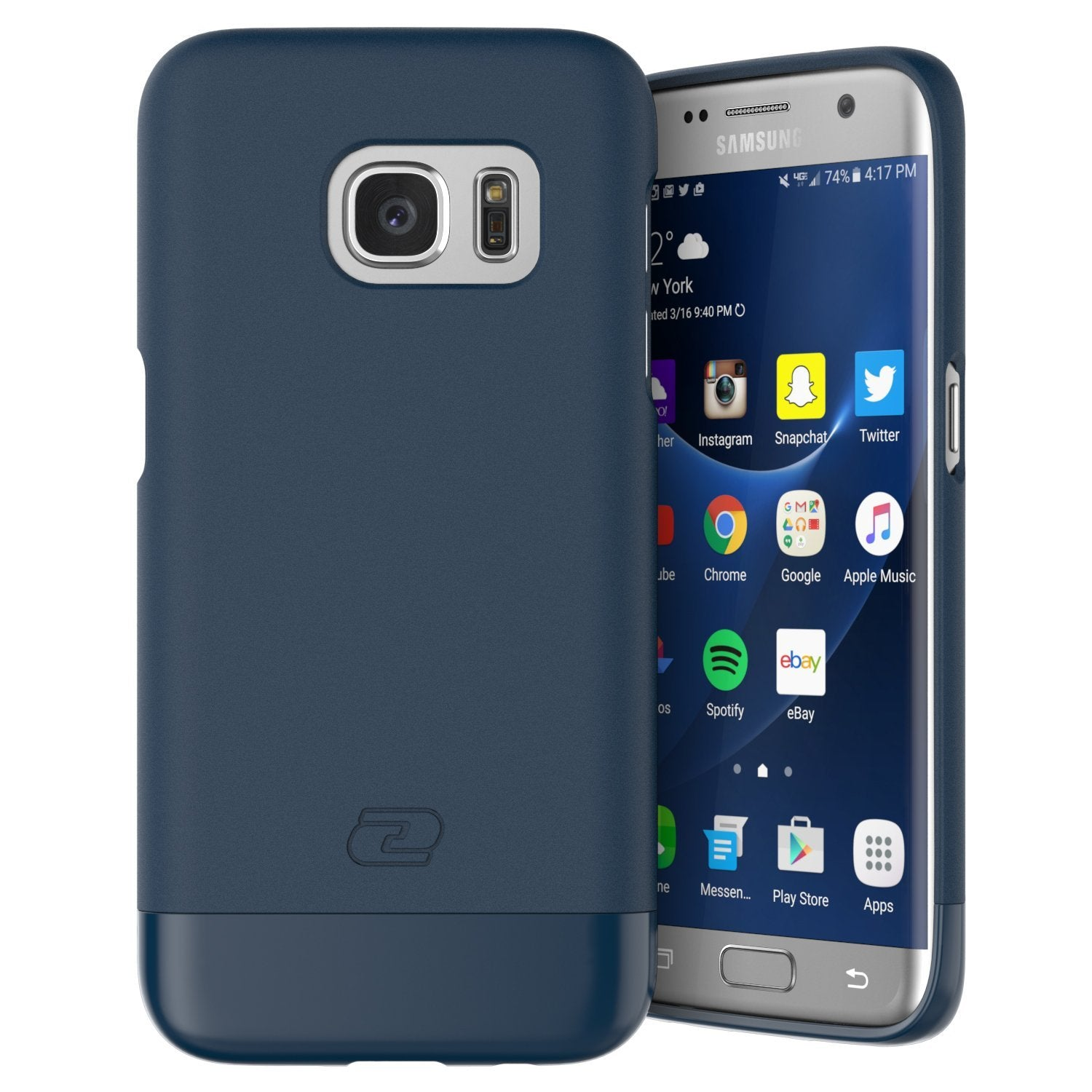 Samsung Galaxy S7 EDGE Case, Encased Ultra-thin [SlimSHIELD] (2016) Ultimate Style + Protection