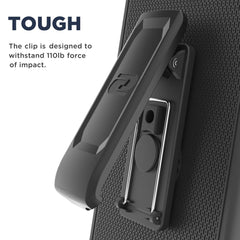 LG G6 Belt Clip Holster Case, Smooth Touch SlimShield Armor by Encased