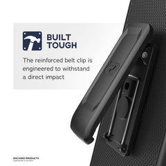 "iPhone 8 Plus Belt Holster, Encased Thin Fit [DuraClip Series] Slim Grip Case & Belt Clip for Apple iPhone 8 Plus 5.5"" (Smooth Black)"
