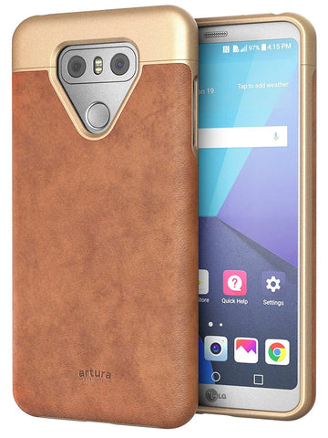 LG G6 Premium Vegan Leather Case - Artura Collection By Encased