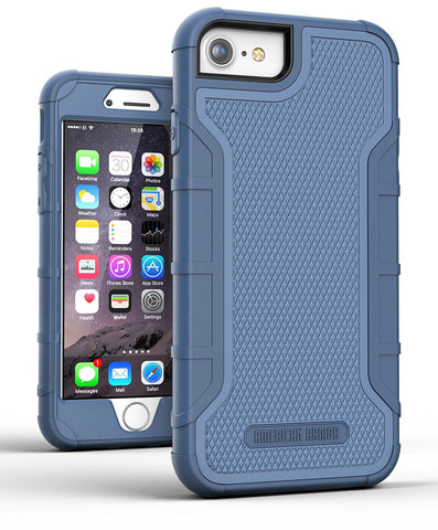 iPhone 7 Tough Case w/ Built in Screen Protector, American Armor² (Heavy Duty) Rugged Case w/ Holster Clip for Apple iPhone7 4.7