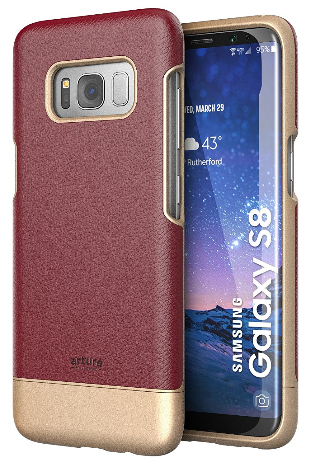 Galaxy S8 Premium Vegan Leather Case - Artura Collection By Encased (Samsung S8)