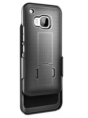 HTC One M9 Belt Case, NEWAero Series Slim Belt Case & Belt Clip Holster w/ KickstandEncased Lifetime Replacement/Warranty (SoftTouch / Scratch-resistant R60 Coating) New 2015 Release