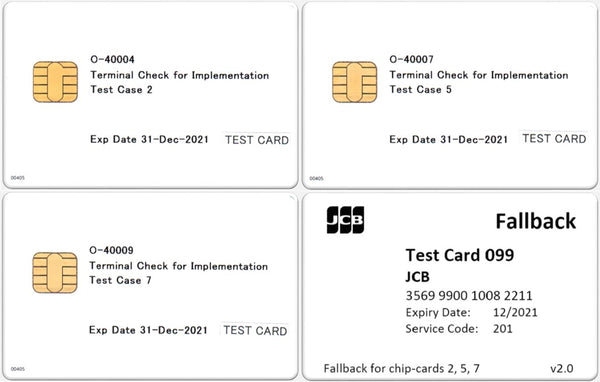 JCB Acquirer EMV Test Card Set (4xCards)