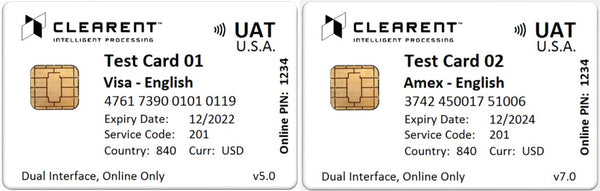 Clearent EMV Test Card Set (2xCards)