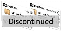 First Data Dual Interface EMV Test Card Set (2xCards) - DISCONTINUED