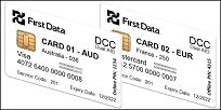 First Data DCC Dual AID EMV Test Card Set (2xCards)
