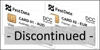 First Data DCC Dual AID EMV Test Card Set (2xCards) - DISCONTINUED