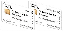 Fiserv Dual Interface EMV Test Card Set (2xCards)