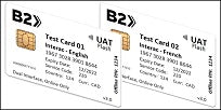 UAT Flash EMV Test Card Set (2xCards)
