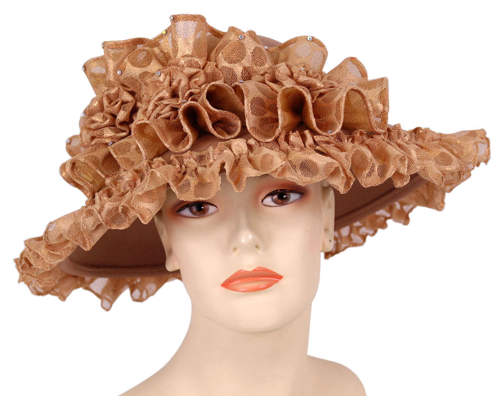 Women's Wool Church Hats in Camel