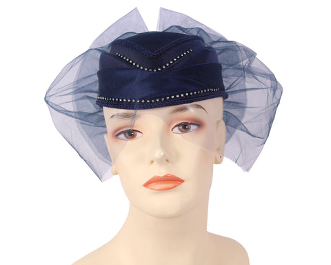 Women's Wool Pill-box Church Hats - HL24