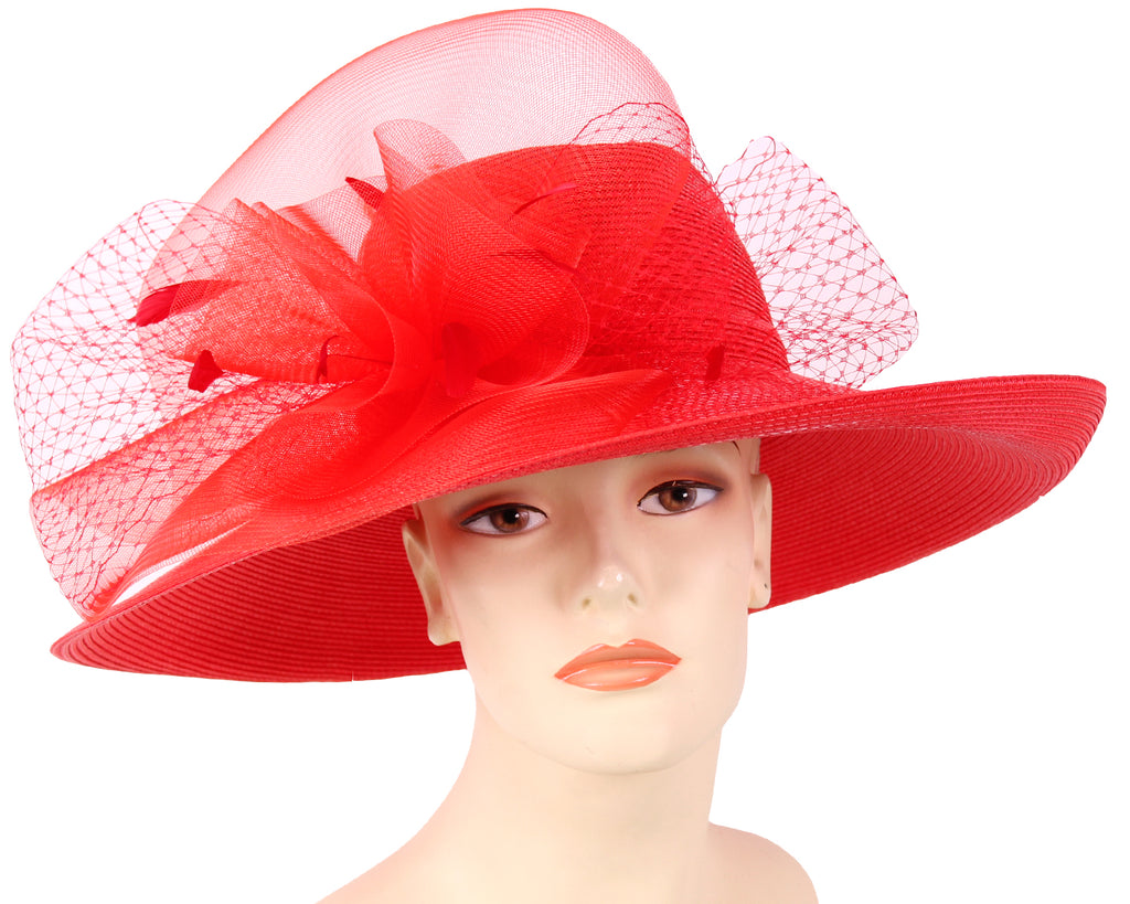 Women's Straw Derby Church Dress Formal Hats - 21524