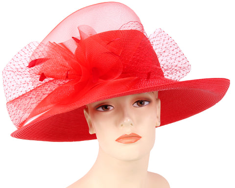 Women's Straw Derby Church Hats - 5081