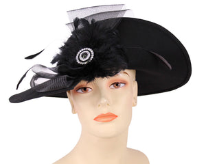 Women's Wool (Felt) Church Hats in Black