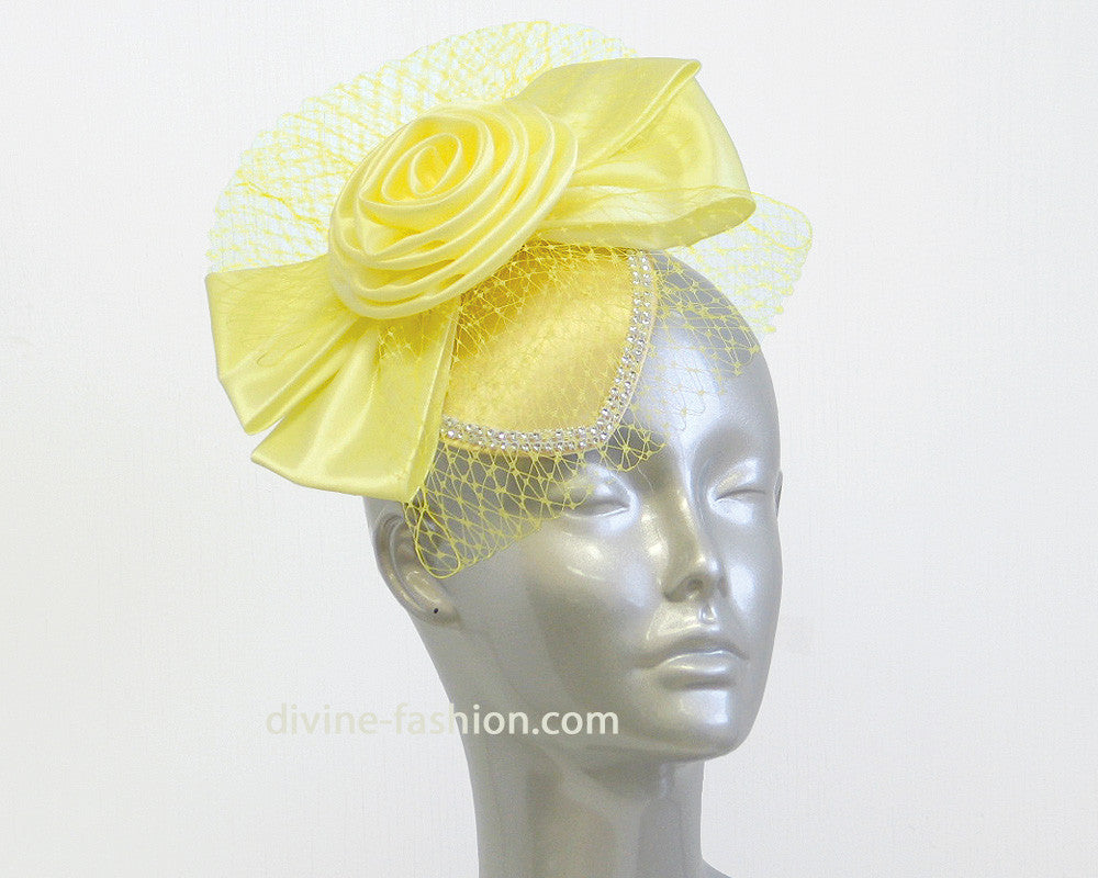Women's Fascinator Hats in Yellow