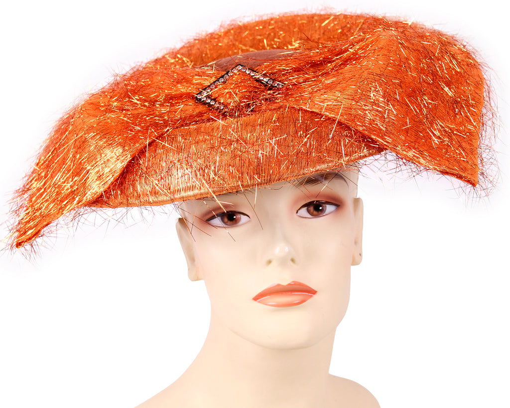 Women's Wool (Felt) Church Derby Hats in Copper - PW39
