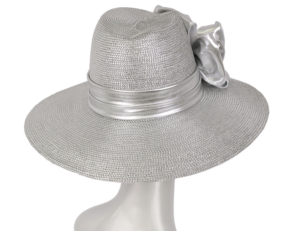 Women's Metallic Straw Church Derby Hats - 3906