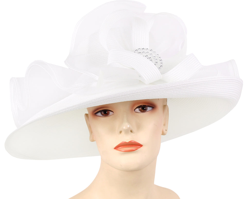 Women's Straw Derby Church Hats - 4650