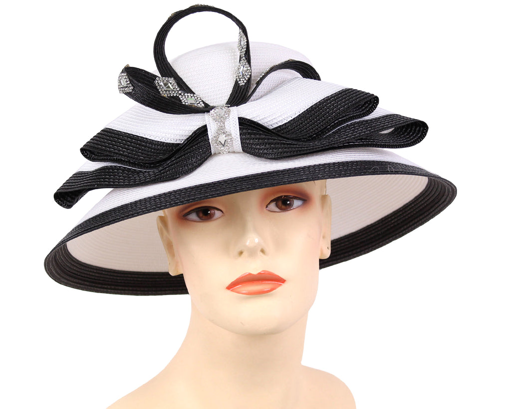 Women's Fascinator Hats in White and Black