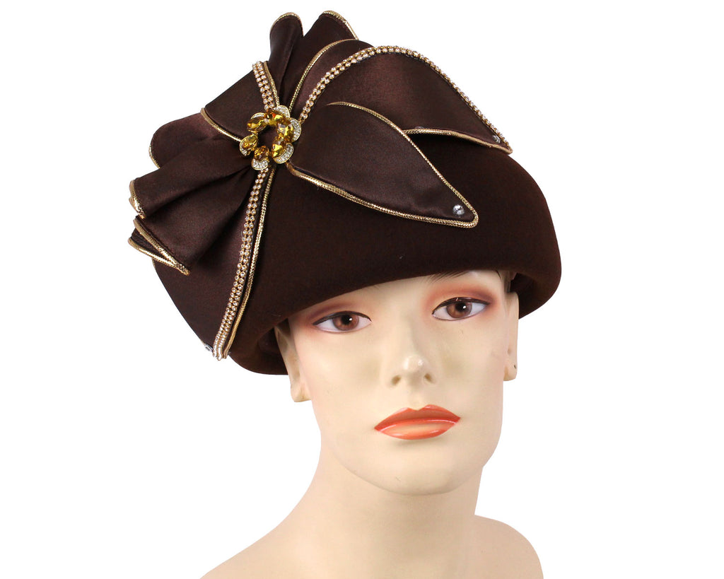 Women's Wool (Felt) Pill-box Church Hats - 491