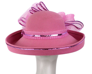 Women's Wool Dress Church Hats - 1501W