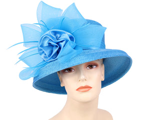 Women's Church Derby Hats, Turquoise - 7005
