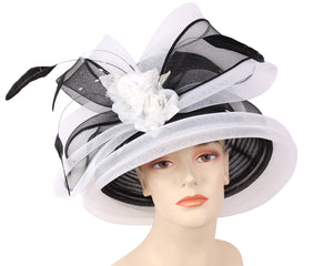 NEW-Women's Mesh Church Derby Hats - 8386