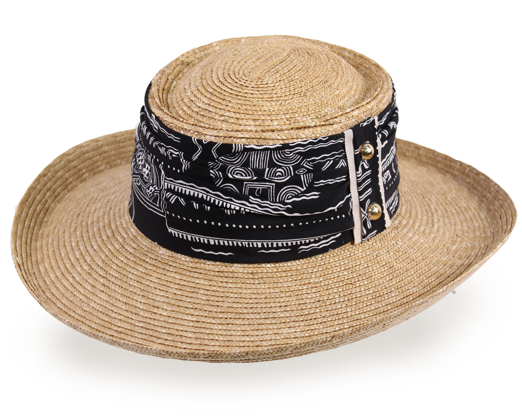 Natural Straw Gambler Panama Hat for Men and Women - Dark Natural (258D) - Free Shipping