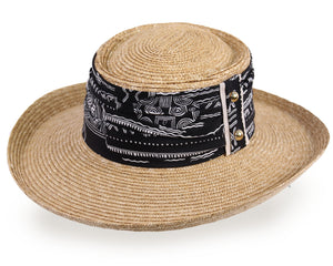 Natural Straw Gambler Panama Hat for Men and Women - Dark Natural (258D)