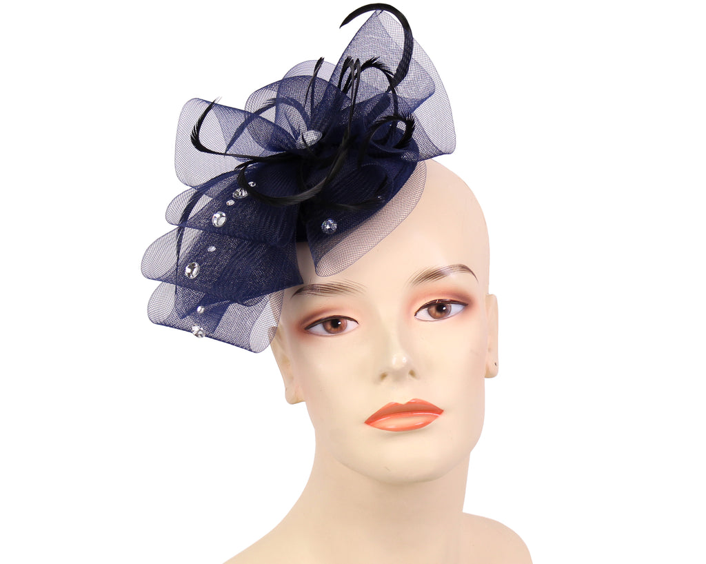 Women's Church Fascinator Hats in Navy  - GJ36