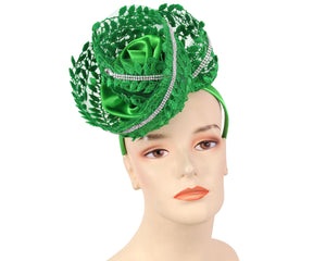Women's Fascinator Church Hats in Green