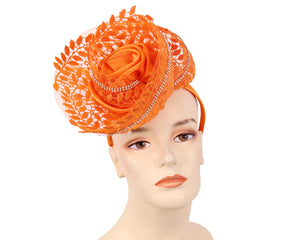Women's Fascinator Church Hats in Orange