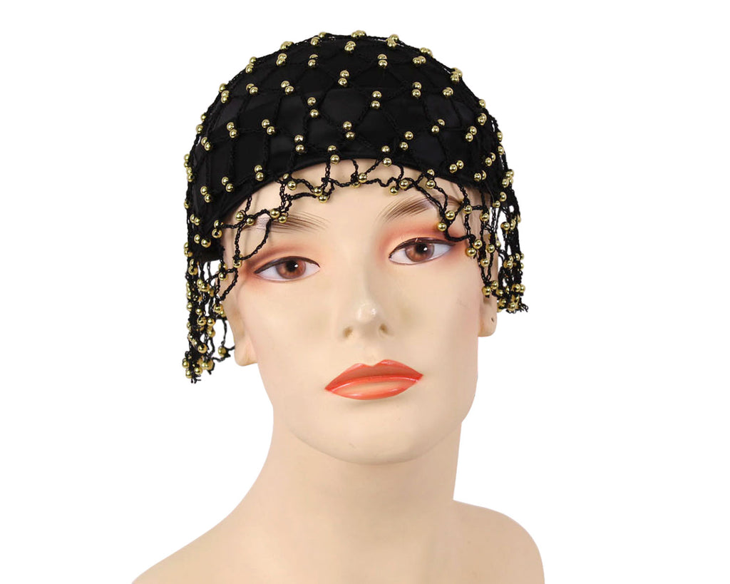 Women's Church Hats in Black and Gold