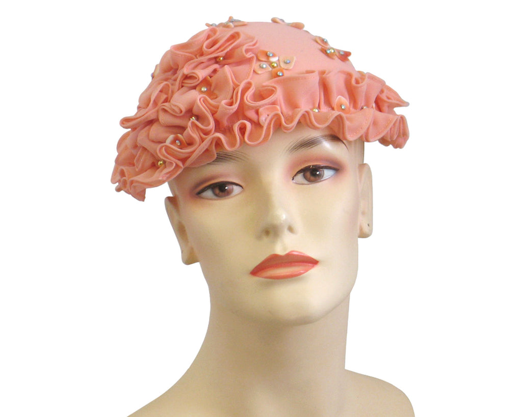 Women's Church Hats in Peach