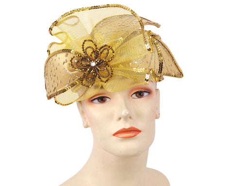 Women's Satin Pill-box Dress Church Hats - HL114