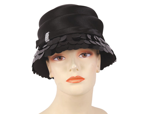 Ladies Satin Year-round Church Hats - H880