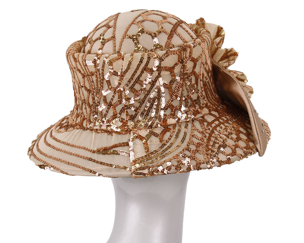 Women's Sequin Year round Church Derby Hats - H894
