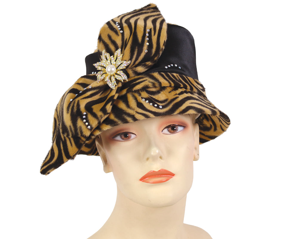 Women's Church Dress Hats in Black and Camel