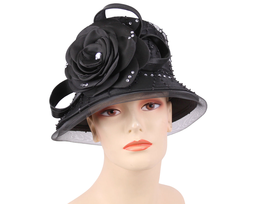 847a4dff5 Women's Satin Church Hats - H911
