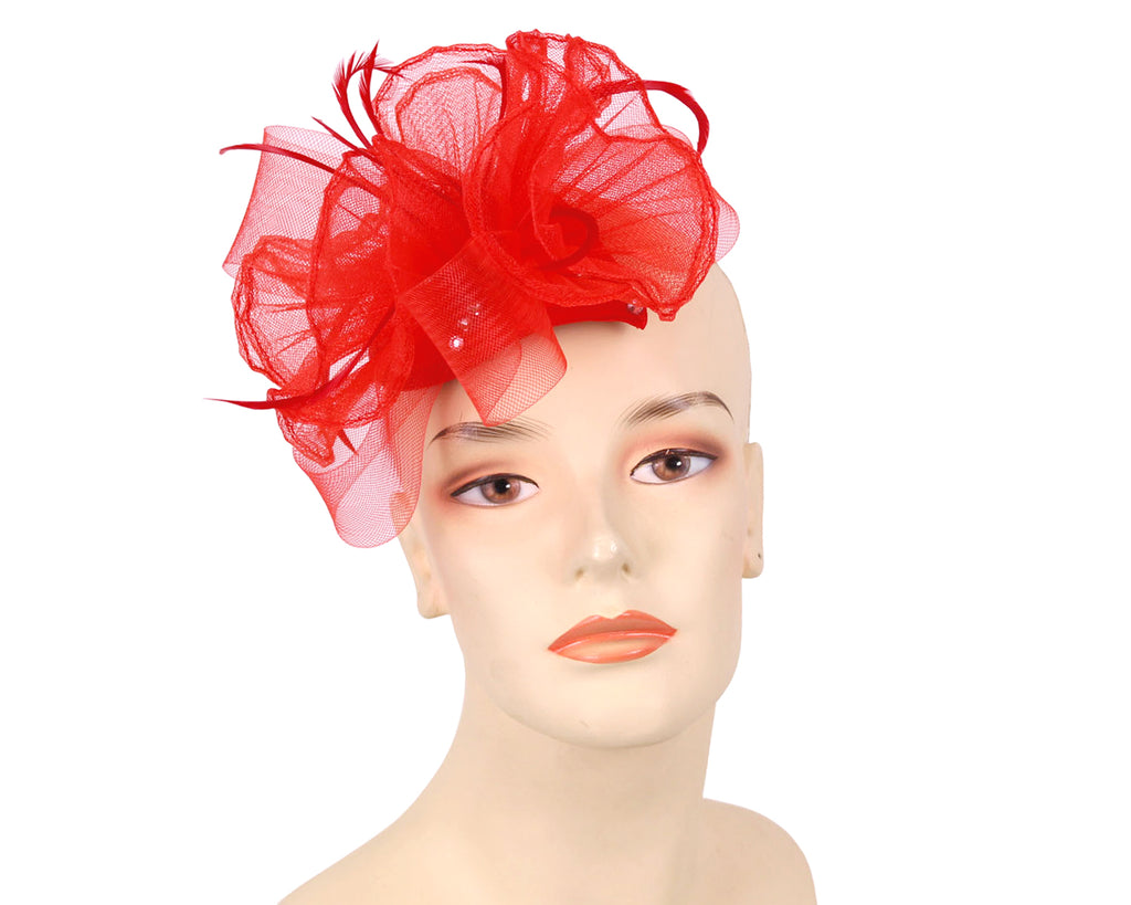 Women's Fascinator Hats in Red,