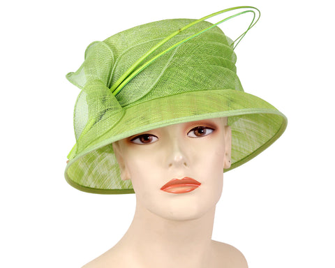 Women's Metallic Straw Dress Church Derby Hats - 93056