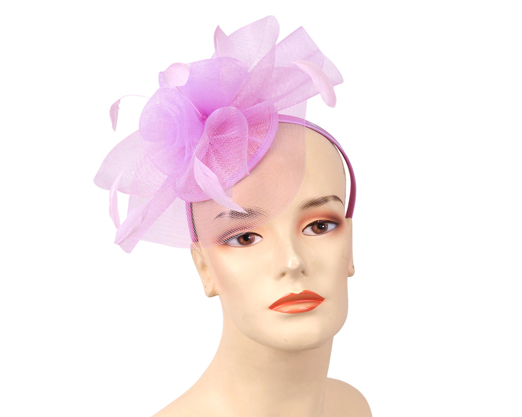 Women's Fascinator Church Hats in Lilac or Purple