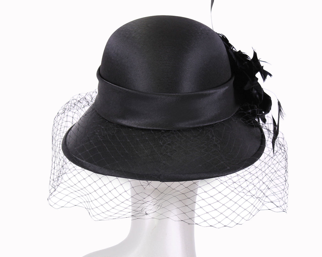 Women's Satin Church Derby Hats #HL109